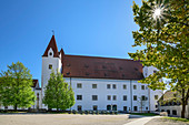 New castle in Ingolstadt, Ingolstadt, Danube Cycle Path, Upper Bavaria, Bavaria, Germany