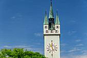 Stadtturm, Straubing, Danube Cycle Path, Lower Bavaria, Bavaria, Germany