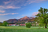 Anger in front of Hochstaufen, Anger, Chiemgau Alps, Chiemgau, Upper Bavaria, Bavaria, Germany