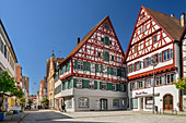 Half-timbered houses in Riedlingen, Riedlingen, Danube Cycle Path, Baden-Württemberg, Germany