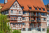 Half-timbered house, Riedlingen, Danube Cycle Path, Baden-Württemberg, Germany