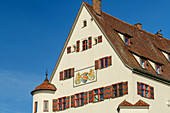Facade of Leipheim Castle, Leipheim, Danube Cycle Path, Swabia, Bavaria, Germany
