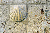 Scallop at the Jakobskapelle, architect Michele de Lucchi, Fischbachau, Upper Bavaria, Bavaria, Germany