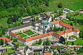 Deep view of Ettal Abbey, Ettal, Upper Bavaria, Bavaria, Germany