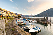 Cannobio harbor, Lake Maggiore, Piedmont, Italy