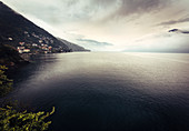 View of Lake Maggiore at Cannobio, Piedmont, Italy