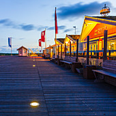 Restaurant Gosch, pier, Sankt Peter Ording, Eiderstedt peninsula, North Friesland, Schleswig-Holstein, Germany