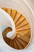 Vitra Design Museum, spiral staircase, Weil am Rhein, Baden Württemberg, Germany