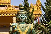 Temple guardians at Burmese temple in Mandalay, Myanmar