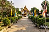 """""""Wat Phai Lom"""" temple on Koh Kret, Bangkok, Thailand"""