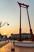 """""""Giant Swing"""" at sunset in the old city, Bangkok, Thailand"""