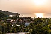 Sunset over Mae Haad Beach, Koh Phangan. Thailand