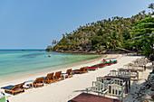 North end of Haad Salad Beach in northwest Koh Phangan. Thailand