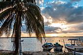 """Isla Mujeres"" at sunset, Quintana Roo, Yucatan Peninsula, Mexico"