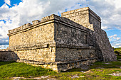 """El Castillo"" - Ancient Mayan site on the site of the Tulum Ruins, Quintana Roo, Yucatan Peninsula, Mexico"