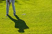 Golfers, Freiburg im Breisgau, Black Forest, Baden-Württemberg, Germany