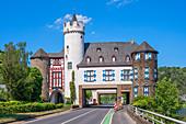 Castle of the Leyen near Kobern-Gondorf, Mosel, Rhineland-Palatinate, Germany