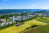 Aerial view of the Petrisberg, Trier, Mosel, Rhineland-Palatinate, Germany
