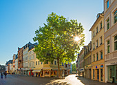 Einkaufstrassen Simeonsgasse und Glockengasse, Trier, Mosel, Rheinland-Pfalz, Deutschland
