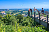 Viewing platform on the Schaumberg near Tholey, Saarland, Germany
