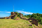 Hohenberg Castle Ruins, former Homburg Fortress, Homburg, Saarland, Germany
