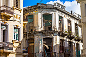 Dilapidated colonial houses, Old Havana, Cuba