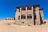 Kolmannskuppe ghost town on a guided tour on Wednesday, near Lüderitz, Namibia