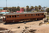 Old railroad in Luderitz, Namibia
