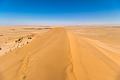 View from Dune 7 - high sand dune in Walvis Bay, Namibia