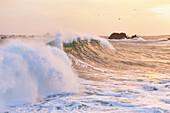 Sturm am Cap de la Hague, Goury, Auderville, Cotentin Halbinsel, Normandie, Frankreich
