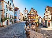 Plönlein und Siebersturm in Rothenburg ob der Tauber, Bayern, Deutschland