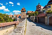 Kobolzeller Steige and Kobolzeller Turm in Rothenburg ob der Tauber