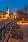 Blick auf die Kreuzkapelle in Etwashausen, Kitzingen, Unterfranken, Franken, Bayern, Deutschland, Europa