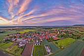 View of Hoheim in the evening, Kitzingen, Lower Franconia, Franconia, Bavaria, Germany, Europe
