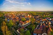 Blick auf den Altort von Markt Einersheim, Kitzingen, Unterfranken, Franken, Bayern, Deutschland, Europa