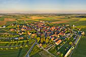 Luftbild von Westheim, Kitzingen, Unterfranken, Franken, Bayern, Deutschland, Europa