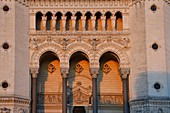 France, Rhone, Lyon, historical site listed as World Heritage by UNESCO, Notre Dame de Fourviere Basilica