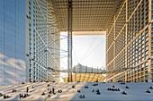 France, Hauts de Seine, the business district of La Defense and the Grande Arche by the architect Otto von Spreckelsen