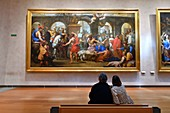 France, Rhone, Lyon, historical site listed as World Heritage by UNESCO, Palais Saint Pierre, Musee des Beaux Arts (Fine Art Museum)t, hall of the paintings of the XVIIth century, The Flagellation of Saint Gervais of Eustache Le Sueur and Thomas Goussé (1654/55)