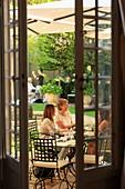 France, Bouches du Rhone, Aix en Provence, Mazarin district, rue Joseph Cabassol, Caumont Art Center, the garden