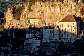 France, Lot, Haut Quercy, Rocamadour, stop on Saint Jacques de Compostelle pilgrimage