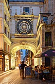 France, Seine Maritime, Rouen, the Gros Horloge is an astronomical clock dating back to the 16th century