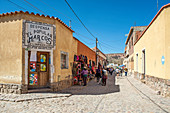 Humahuaca, Jujuy province, Argentina, South America. A town's street