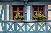 Brittany, France, Tréguier. Brittany architectural details,windows Tréguier village