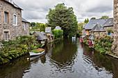 Bretagne, Frankreich, Pontrieux, das Dorf Pontrieux mit dem Fluss