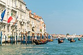 Italy, Venetia, Venice, listed as World Heritage by UNESCO, gondola, Canal Grande, Grand Canal, San Marco district