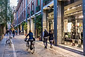 Italy, Lombardy, Milan, via Della Spiga street, shop Porsche Design