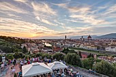 Italy, Tuscany, Florence, historical center listed as World Heritage by UNESCO, panoramic view of the city