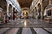Italy, Latium, Rome, Aracoeli, Historical Centre listed as World Heritage by UNESCO, from apse towards counter façade