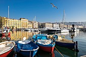 Italy, Campania region, Naples, Mergellina fishing port